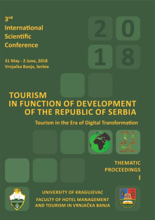 The Third International Scientific Conference, TOURISM IN FUNCTION OF DEVELOPMENT OF THE REPUBLIC OF SERBIA - Tourism in the Era of Digital Transformation, Thematic Proceedings I